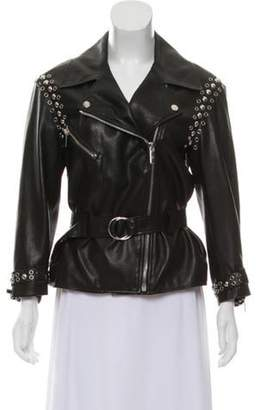 Nour Hammour Leather Studed Jacket w/ Tags Black Leather Studed Jacket w/ Tags