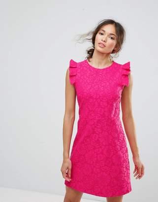 Warehouse Lace Ruffle Dress