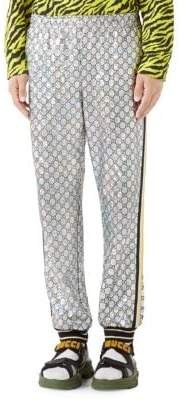 Gucci Laminated Sparkling GG Jersey Jogging Pant
