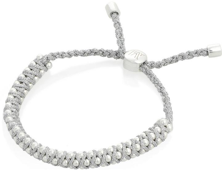 Monica Vinader Rio sterling silver beaded bracelet