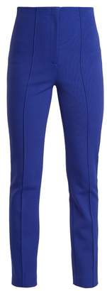 Diane von Furstenberg High Rise Skinny Stretch Crepe Trousers - Womens - Blue