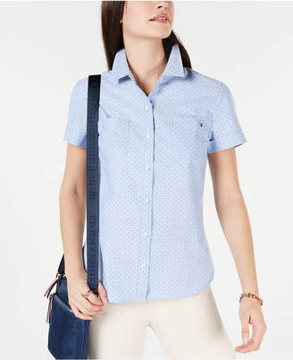 Tommy Hilfiger Dot-Print Button-Down Shirt
