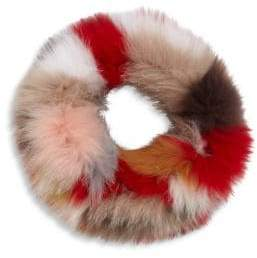 Surell Multicolor Fox Fur Cowl Scarf