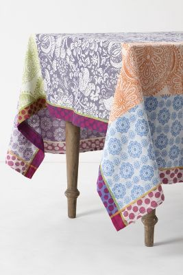 Anthropologie Jumping Jacquard Tablecloth