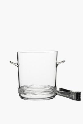 Juliska Glass Dean Ice Bucket with Tongs