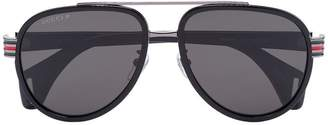 Gucci black tinted lens aviator sunglasses