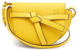 Loewe Gate Mini Grained Leather Cross Body Bag - Womens - Yellow