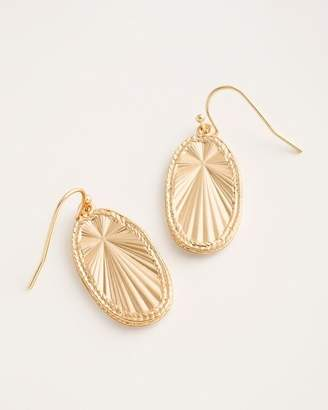 Chico's Chicos Goldtone Textured Shine Drop Earrings