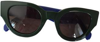 Celine Green Plastic Sunglasses