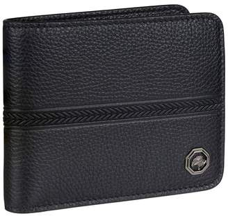 Leather Tire Track Bifold Wallet