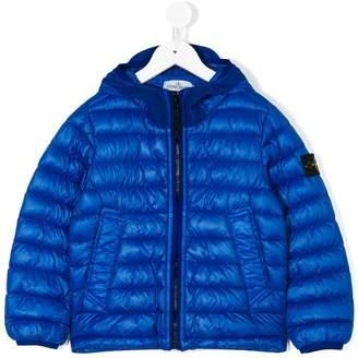 Stone Island Junior padded hooded jacket