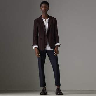 Burberry Soho Fit Striped Linen Tailored Jacket