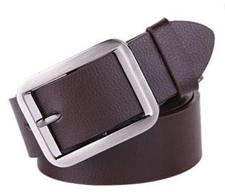 Let Belt Alloy Pin Buckle Waistband Genuine Leather Men Waist Wide Strap Casual