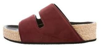 Celine Suede Slide Sandals w/ Tags