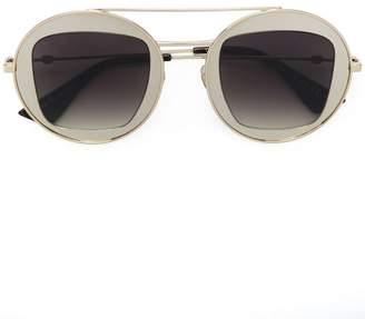 Gucci metal frame sunglasses