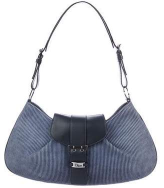 Christian Dior Leather-Trimmed Hobo
