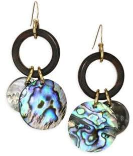 Nest Abalone Charm Drop Earrings