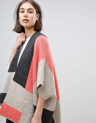 Lavand Patch Oversize Cardigan