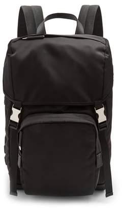 Prada - Logo Appliqué Backpack - Mens - Black Multi
