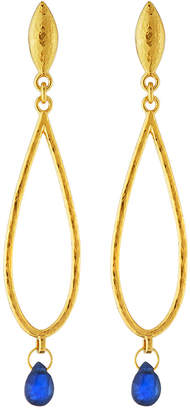 Gurhan 22k Gold Captiva Teardrop Sapphire Earrings