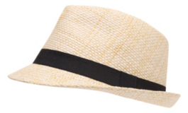 Natural Black Band Fedora