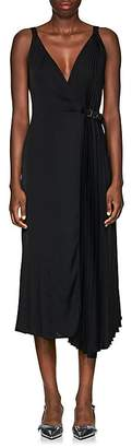 Prada Women's Crepe Belted Wrap-Front Dress