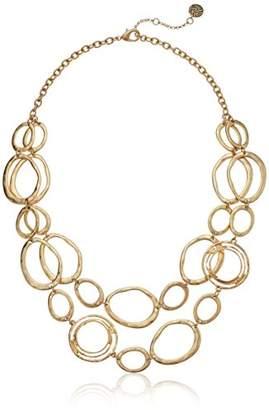 The Sak Women's Link Double Layer Necklace