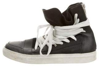 Kris Van Assche Leather High-Top Sneakers