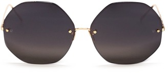 Metal octagonal sunglasses