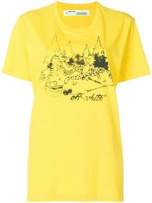 Off-White logo patch print T-shirt