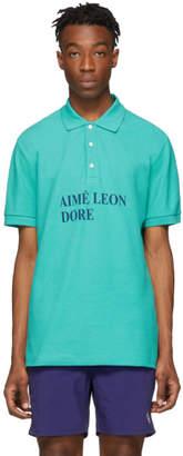 Leon Aime Dore Green Graphic Polo