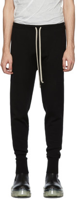 Rick Owens Black Crepe Lounge Pants