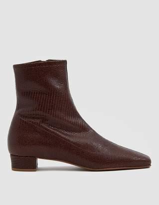 BY FAR Este Lizard Embossed Ankle Boot