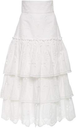 Alexis Faustine Eyelet Cotton-Blend Skirt