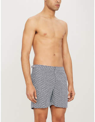 b031f05f20 Orlebar Brown Geometric-print tailored swim shorts