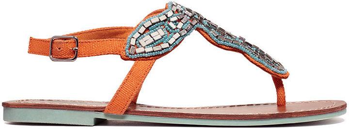 Sugar Shoes, Jacinda Flat Thong Sandals