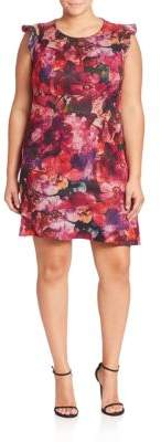 Plus Floral Printed Dress