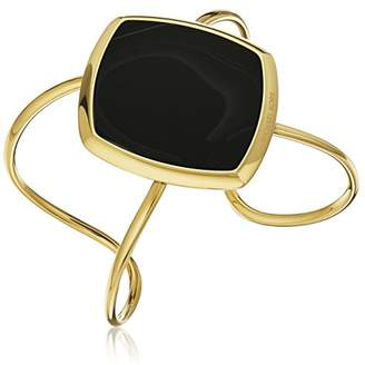 Michael Kors Cool & Classic -Tone and Black Agate Cuff Bracelet