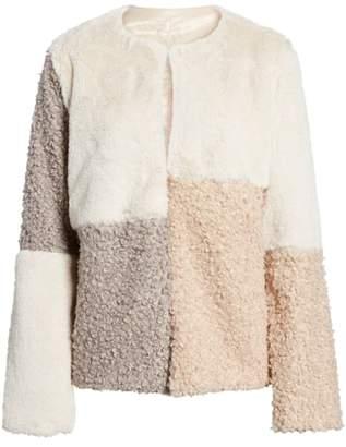Sam Edelman Patchwork Faux Fur Coat