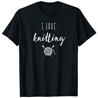 I Love Knitting t-shirt for men and women who knit