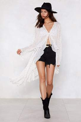 Nasty Gal Star Material Longline Blouse
