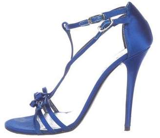 Stuart Weitzman Satin High Heel Sandals