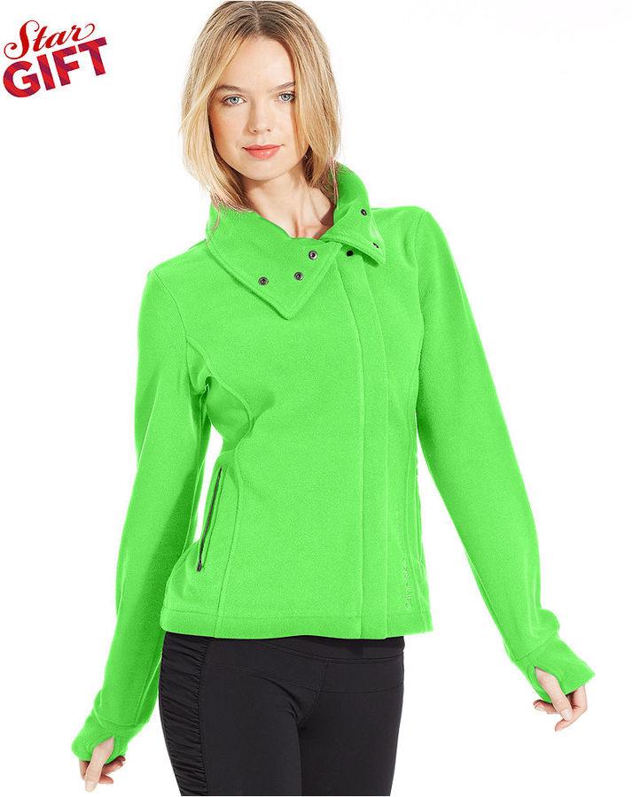 Calvin Klein Jacket, Asymmetrical Funnel-Neck Fleece