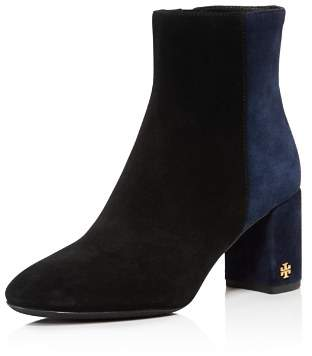 Tory Burch Women's Brooke Two-Tone Block Heel Booties