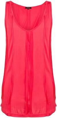 Unconditional pleat detail vest