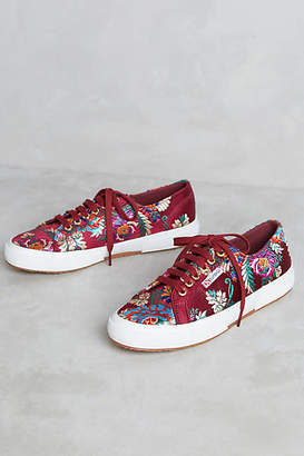Superga Embroidered Satin Sneakers $98 thestylecure.com