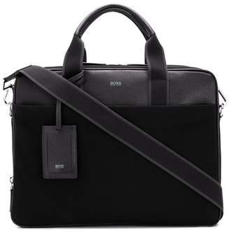 HUGO BOSS grained laptop bag