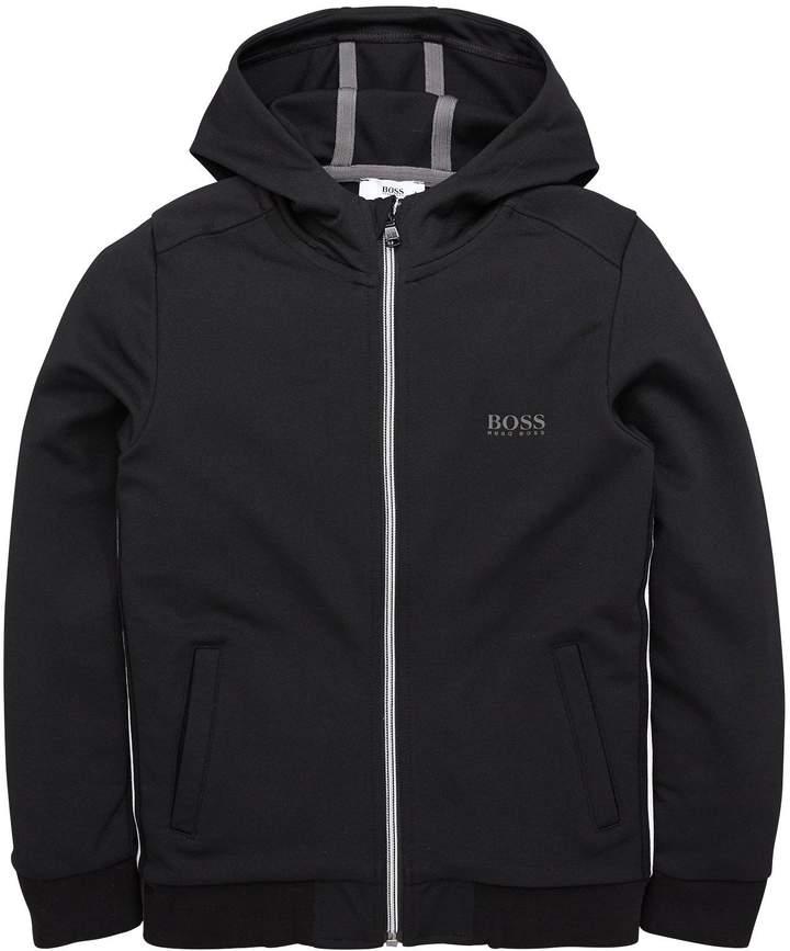 Boys Zip Through Hooded Jacket
