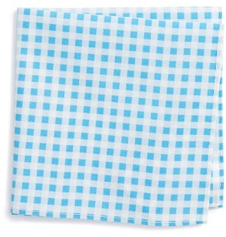 Boy's Nordstrom Check Cotton Pocket Square $15 thestylecure.com