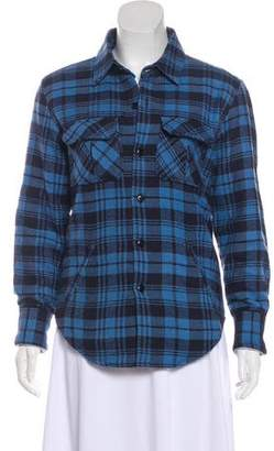 Band Of Outsiders Plaid Button-Up Jacket
